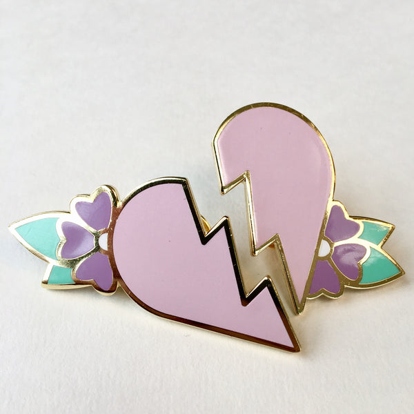 Broken Heart Pin Set - Jared Gaines Art