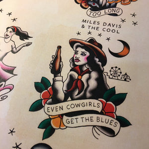 The Gaslight Anthem Tattoo Flash - Jared Gaines Art