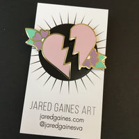 Broken Heart Pin Set