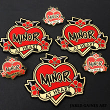 Load image into Gallery viewer, Minor Threat Tattoo Pin - Jared Gaines Art