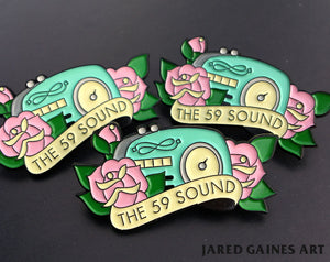 The Gaslight Anthem - 59 Sound Pin - Jared Gaines Art