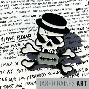Rancid Time Bomb Pin - Jared Gaines Art