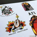 AFI Black Sails Tattoo Flash