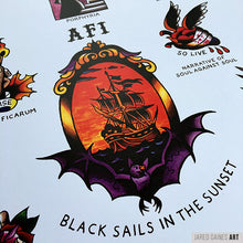 Load image into Gallery viewer, AFI Black Sails Tattoo Flash - Jared Gaines Art
