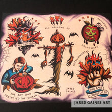 Load image into Gallery viewer, AFI All Hallows Tattoo Flash