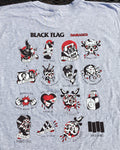 Black Flag Damaged 2-Sided Shirt!