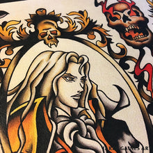 Load image into Gallery viewer, Castlevania Tattoo Flash - Jared Gaines Art
