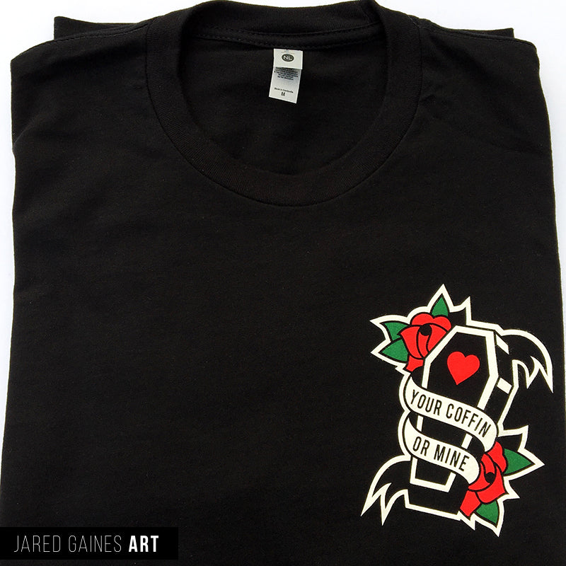 Alkaline Trio Coffin Shirt - Jared Gaines Art