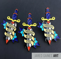 Saves the Day Through Being Cool Pin - Jared Gaines Art