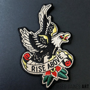 Black Flag | Rise Above Embroidered Patch - Jared Gaines Art
