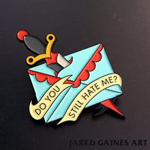 Load image into Gallery viewer, Jawbreaker Letter Pin - Jared Gaines Art