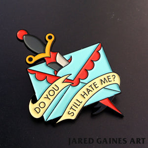 Jawbreaker Letter Pin - Jared Gaines Art