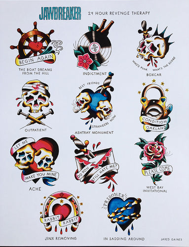 Jawbreaker Tattoo Flash - Jared Gaines Art