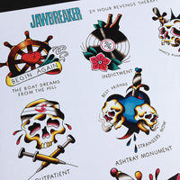 Jawbreaker Tattoo Flash Poster | 24 Hour Revenge Therapy