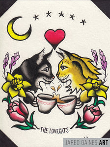 The Cure Tattoo Flash | The Lovecats - Jared Gaines Art