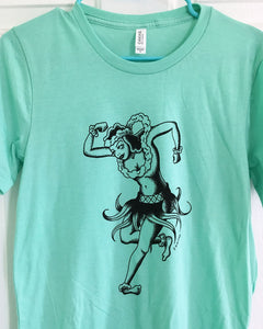 Hula Girl Shirt - Jared Gaines Art