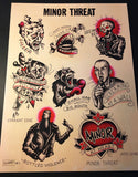 Minor Threat Tattoo Flash - Jared Gaines Art
