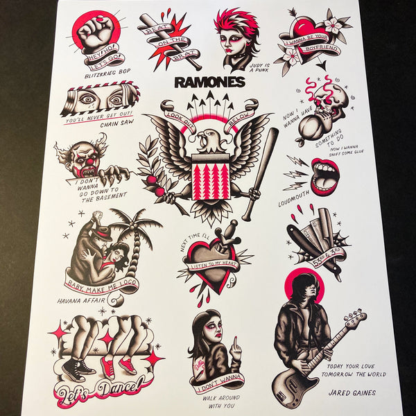 Ramones Christmas Cards 5 PACK