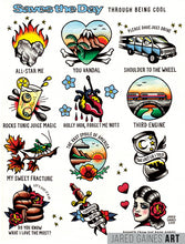 Load image into Gallery viewer, Saves the Day - Through Being Cool Tattoo Flash - Jared Gaines Art