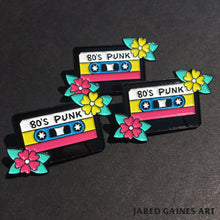 Load image into Gallery viewer, 80's Punk Cassette Pin