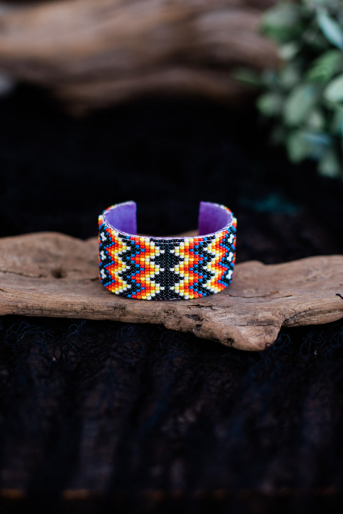 Beaded Cuff | Large | Black
