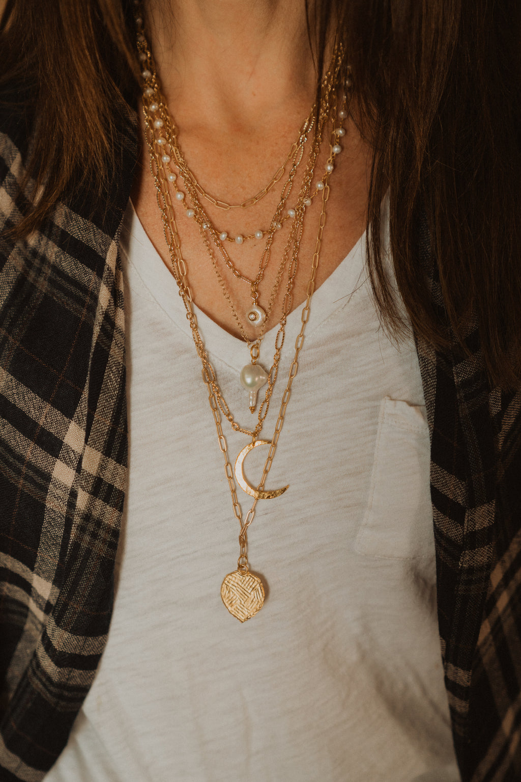 Gold Necklace | 6 Strand