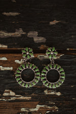 Flower Zuni Dangle Earrings
