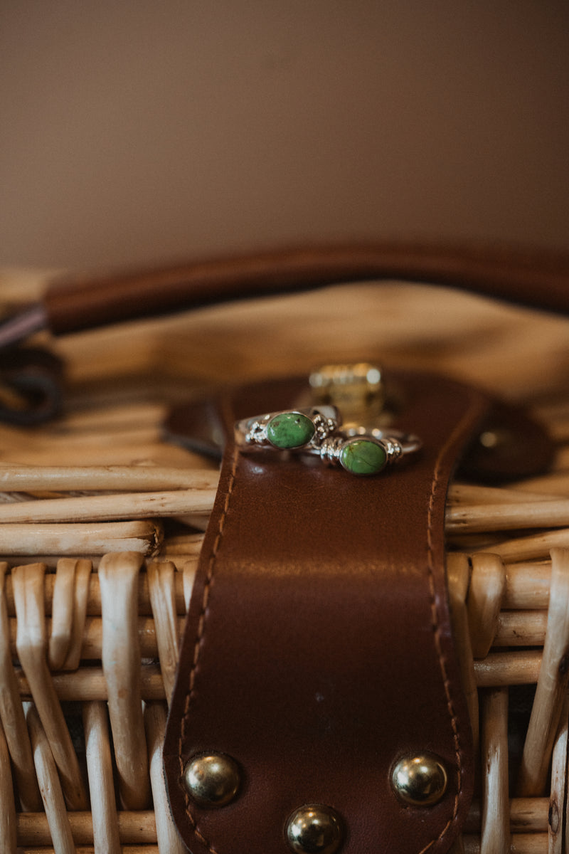 The Caed Ring | Green Gaspeite Stone