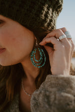 The Maudey Beaded Hoops
