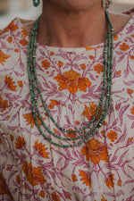 The Olive Necklace | Small 3 Strand