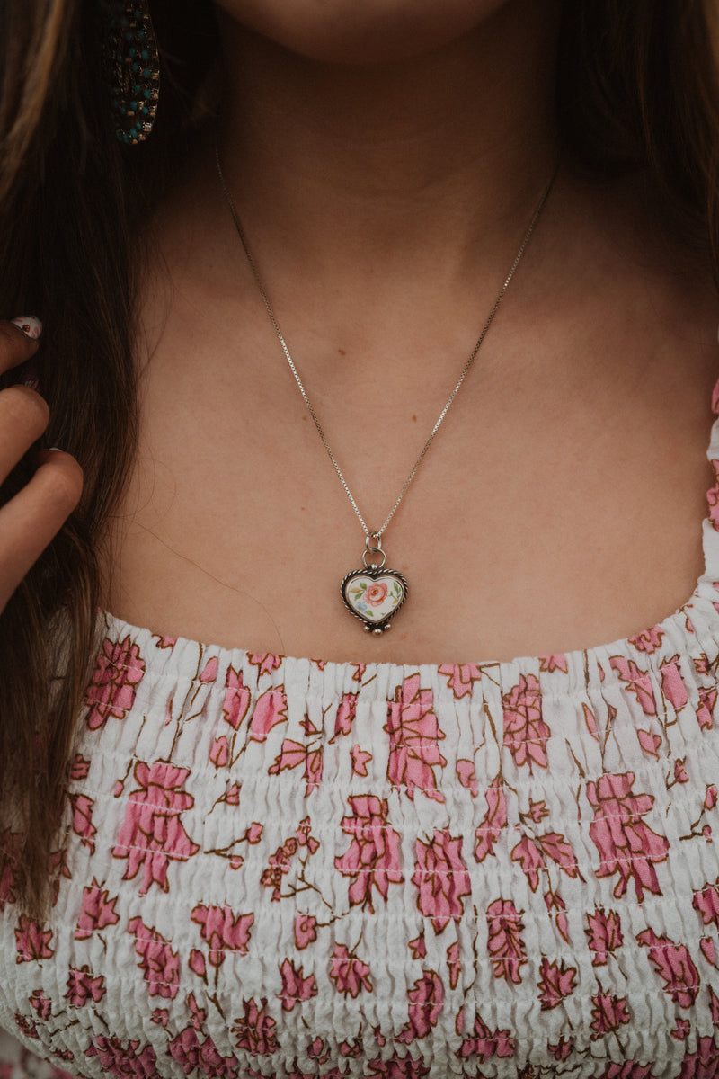 The Marianna | Floral Heart Pendant