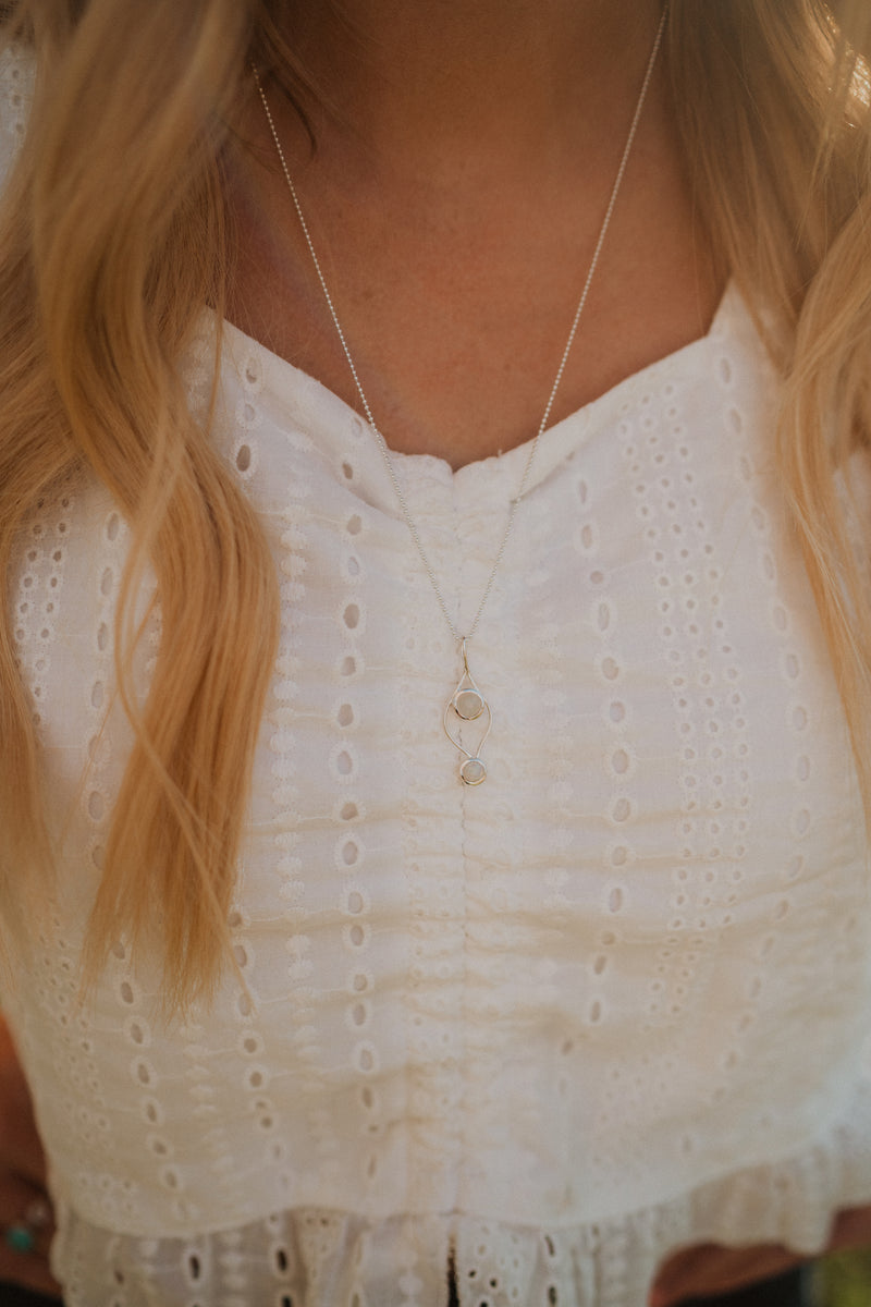 Elaine Necklace | Double Moonstone