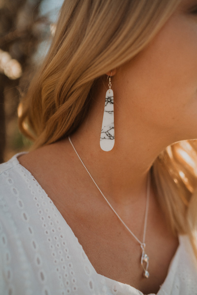 Milo Earrings | Howlite