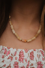 The Kenna Necklace | Yellow Jade