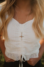 Silver Cross | Silver Bead Necklace