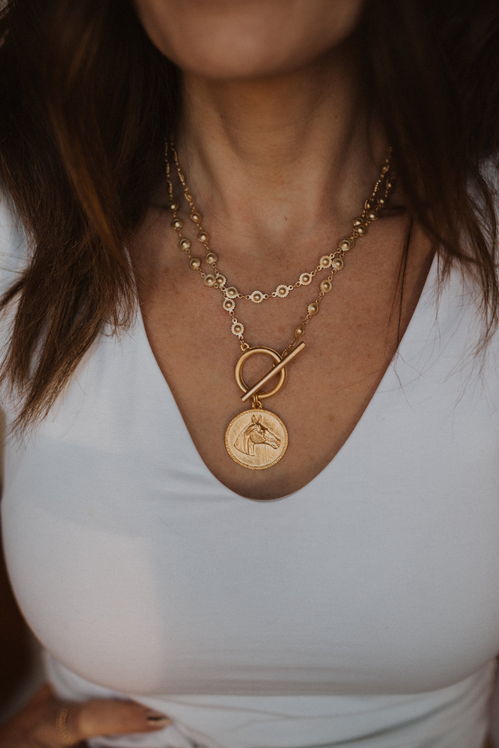 The Jolla | Gold Horse Necklace
