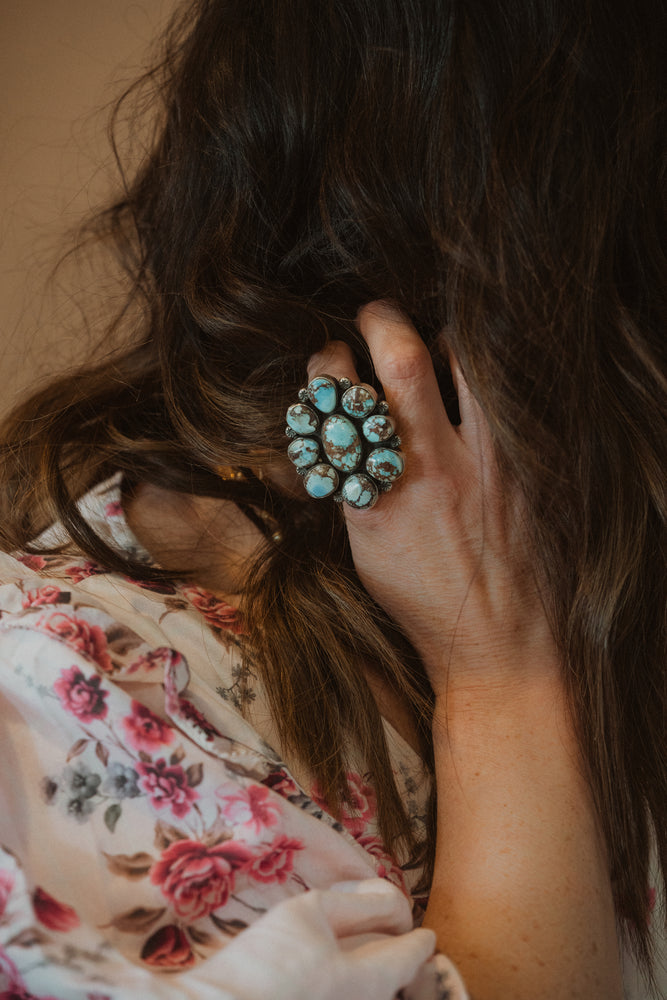 The Liv | Raw Freeform Turquoise Ring