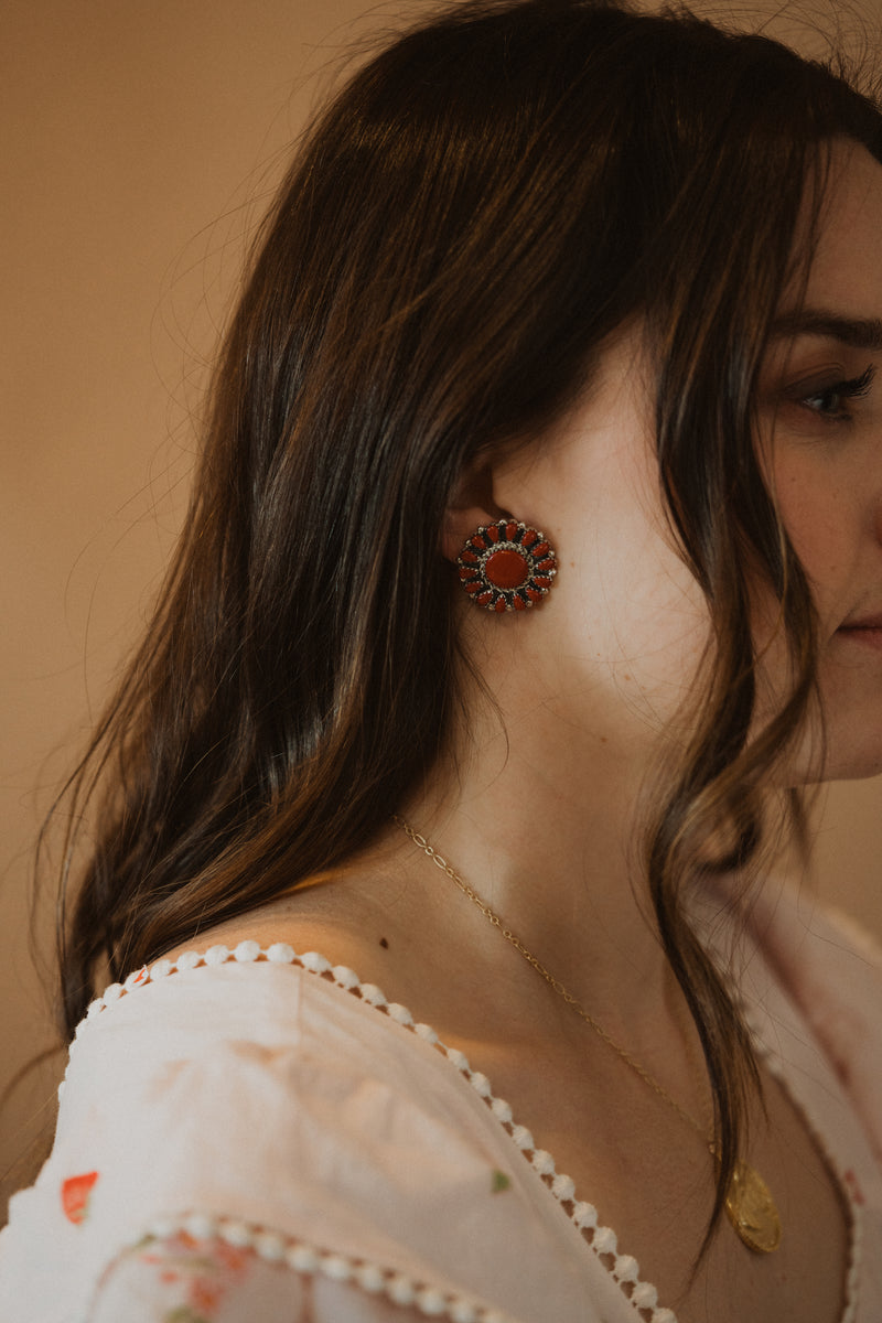 The Julianne Earrings | Coral