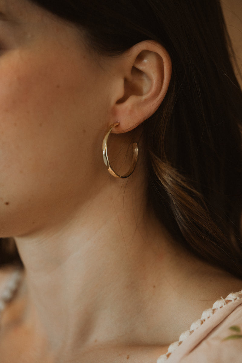 The Paige Hoops | Gold