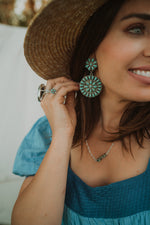 Turquoise Zuni Drop Earrings