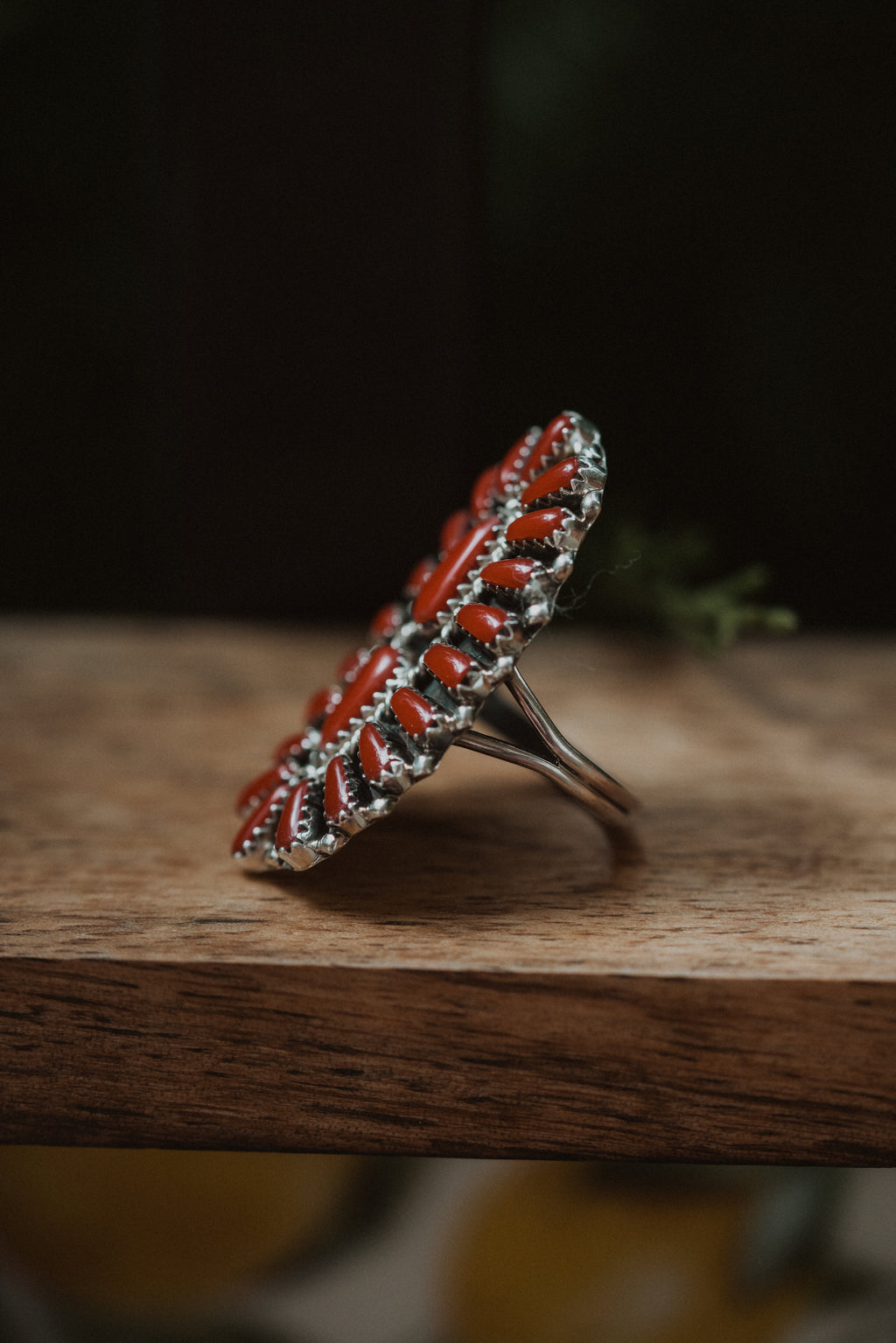 The Louisa | Coral Cluster Ring