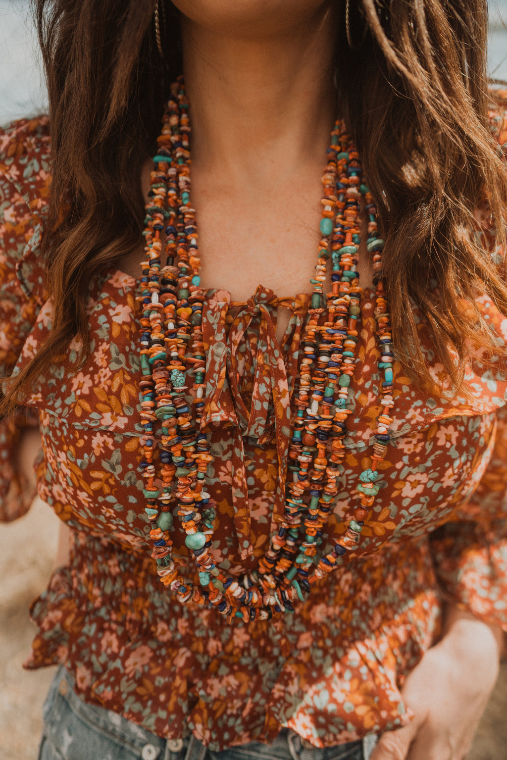 The Bonzai | 5 Strand Necklace | Coral Chippy
