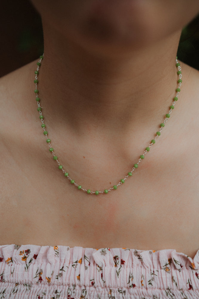 Lime and Silver Choker
