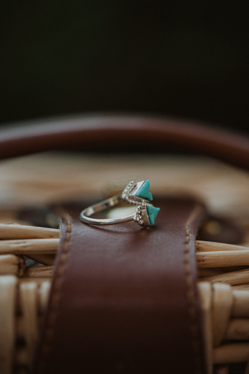 The Roma | Turquoise Triangle Ring