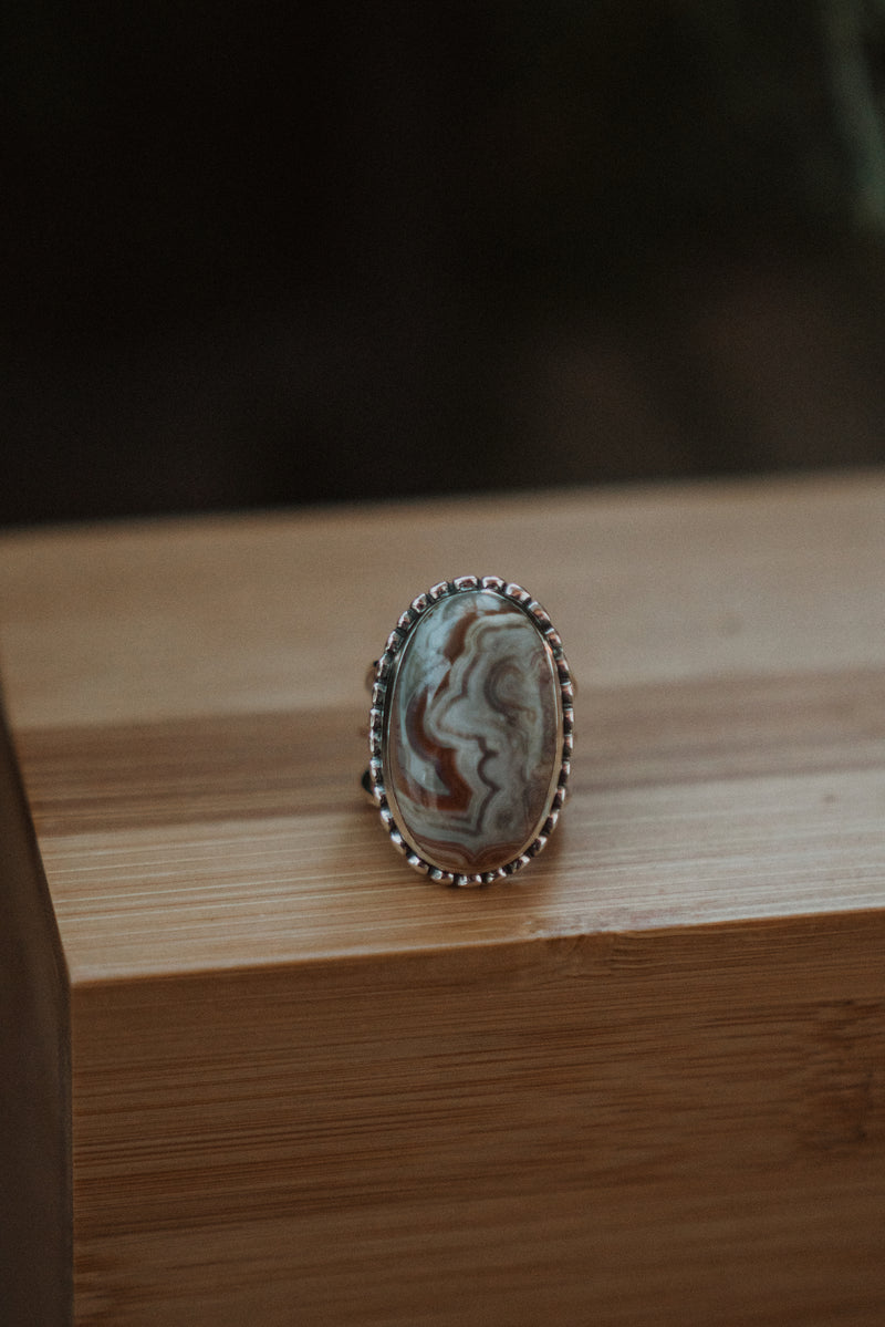 The Colette | Crazy Lace Agate