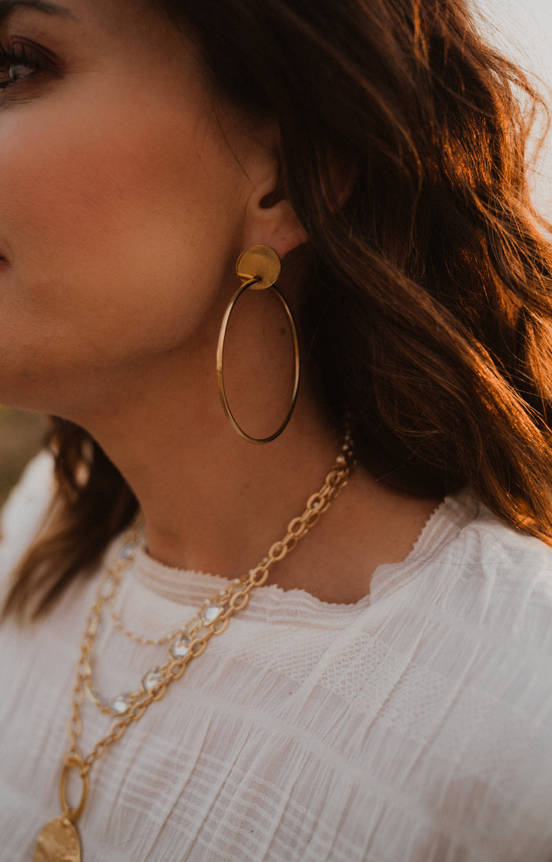 The Brandy | Delicate Gold Hoops