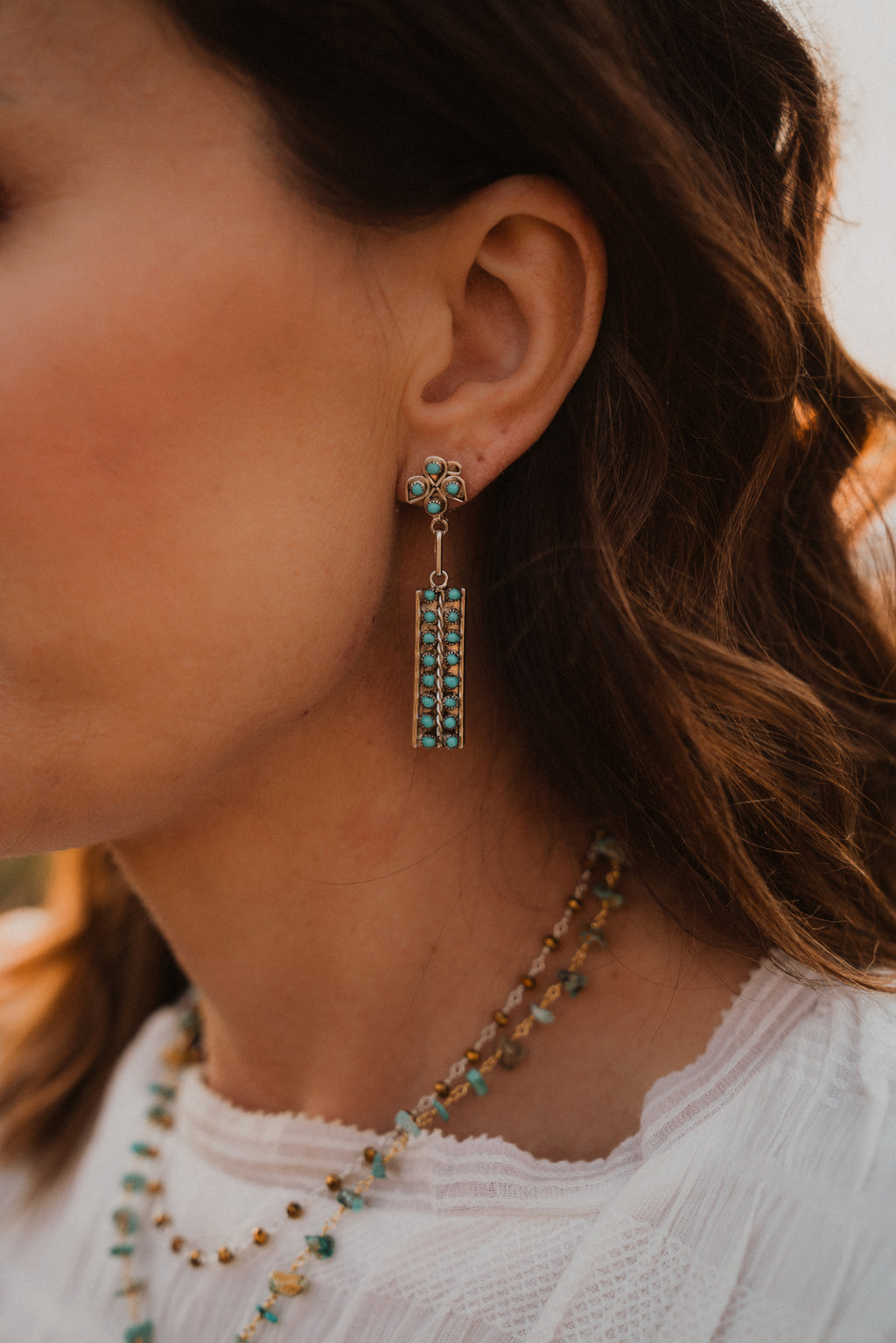 Artie Earrings | Double Bar Zuni Earring