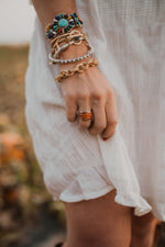 Single Bar Shield Ring | Coral