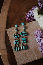 Turquoise Chandelier Earrings No. 01