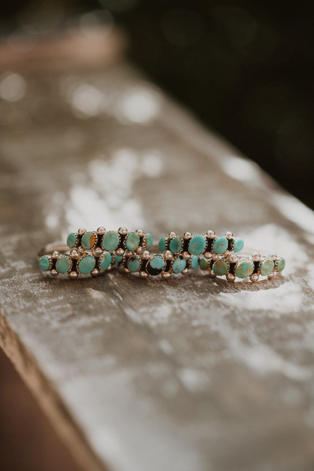 Medium Dot Ring | Green Turquoise